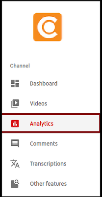 Der Analytik-Bereich eines YouTube-Kontos.