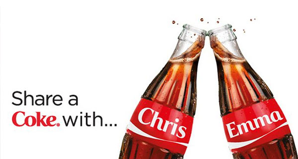 The 'Share a Coke with...' campaign.
