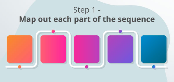 A picture showing step 1 of a process.