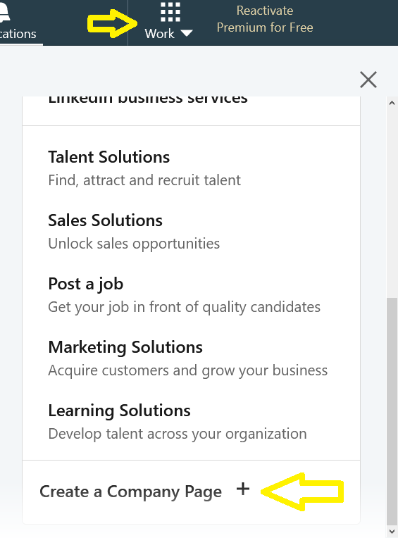 A screenshot of the LinkedIn interface.