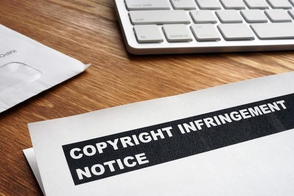 keyboard and copyright infringement form