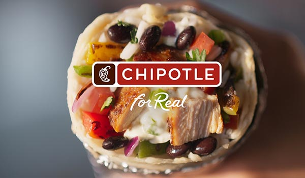 A Chipotle advertisement.