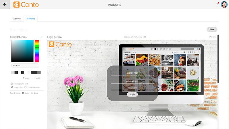 The Canto DAM website.