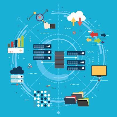 Eine animierte Darstellung von Funktionen digitaler Dateien.