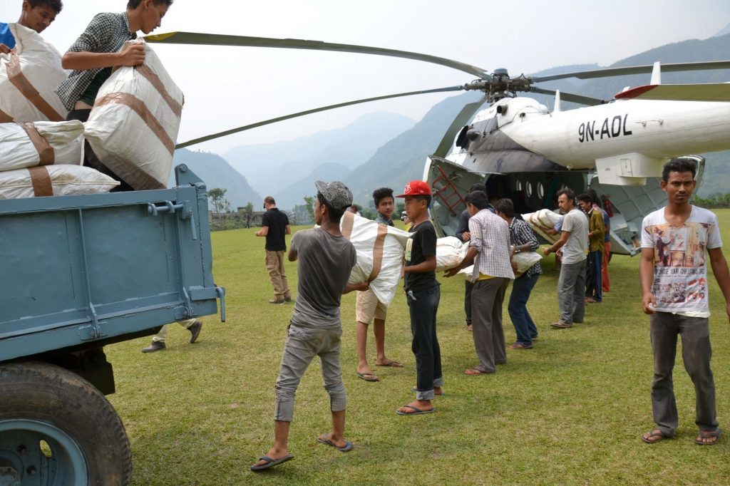 Photo of goods being distributed.