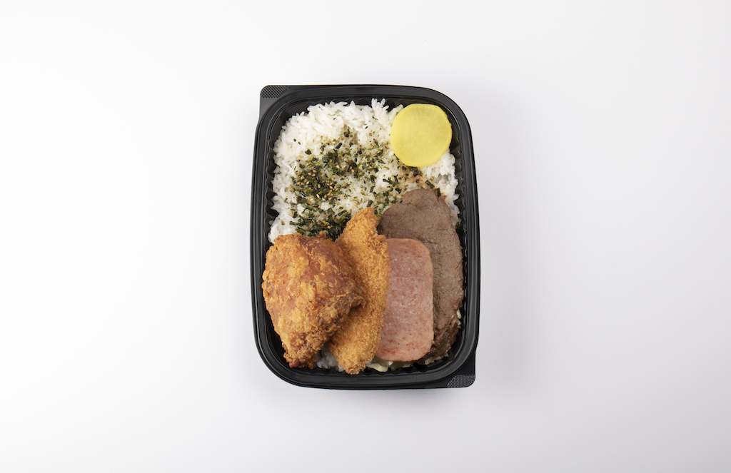 Picture of a bento dish from Zippy's.