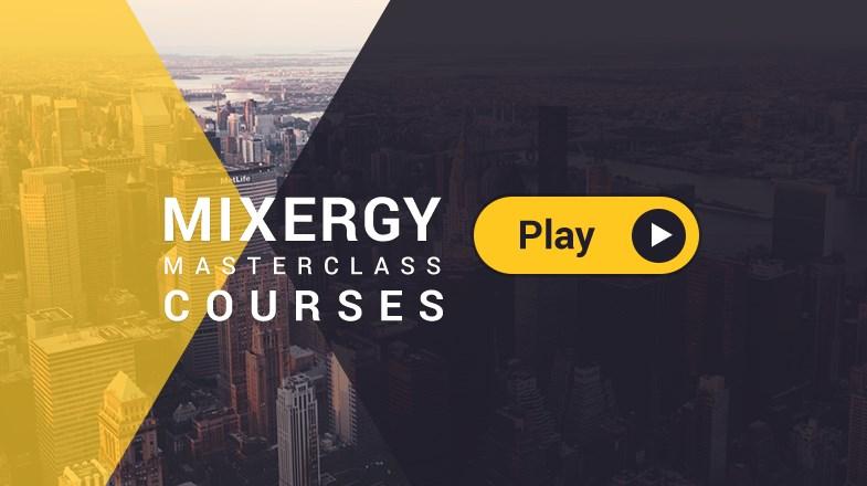 The Mixergy podcast screen.