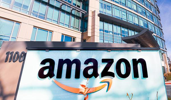 An Amazon building.