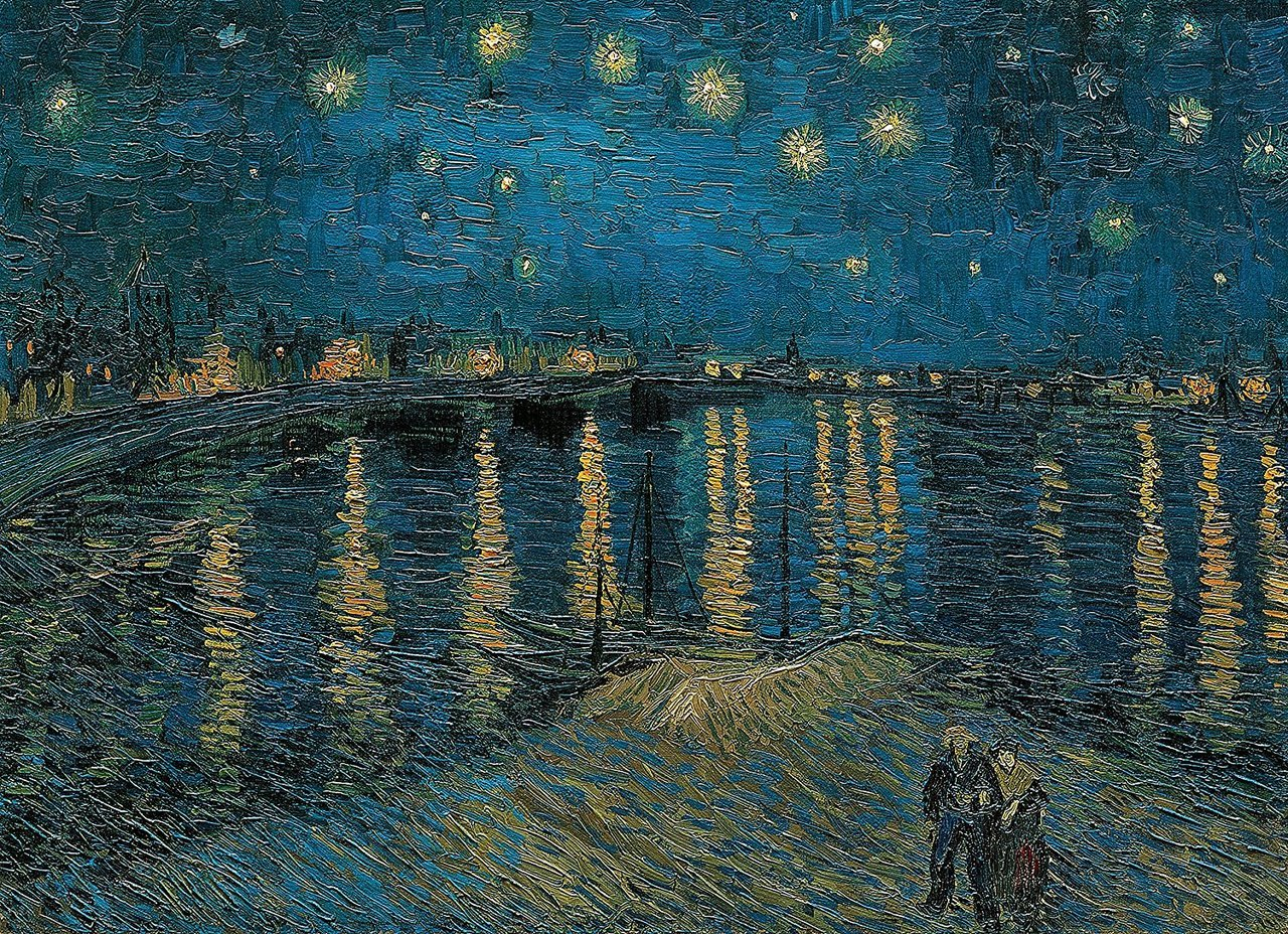A Van Gogh painting digitized.
