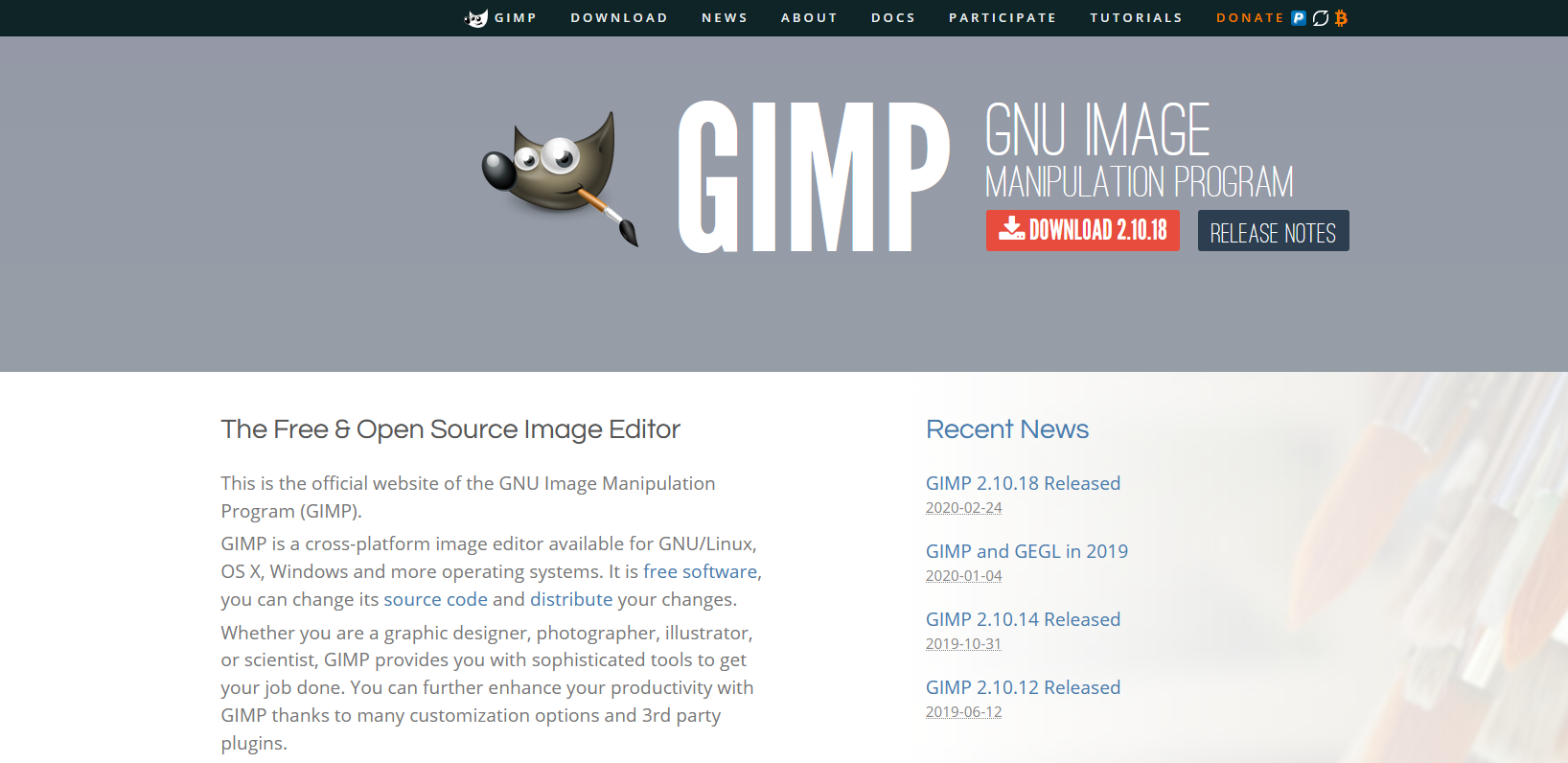 The Gimp website.