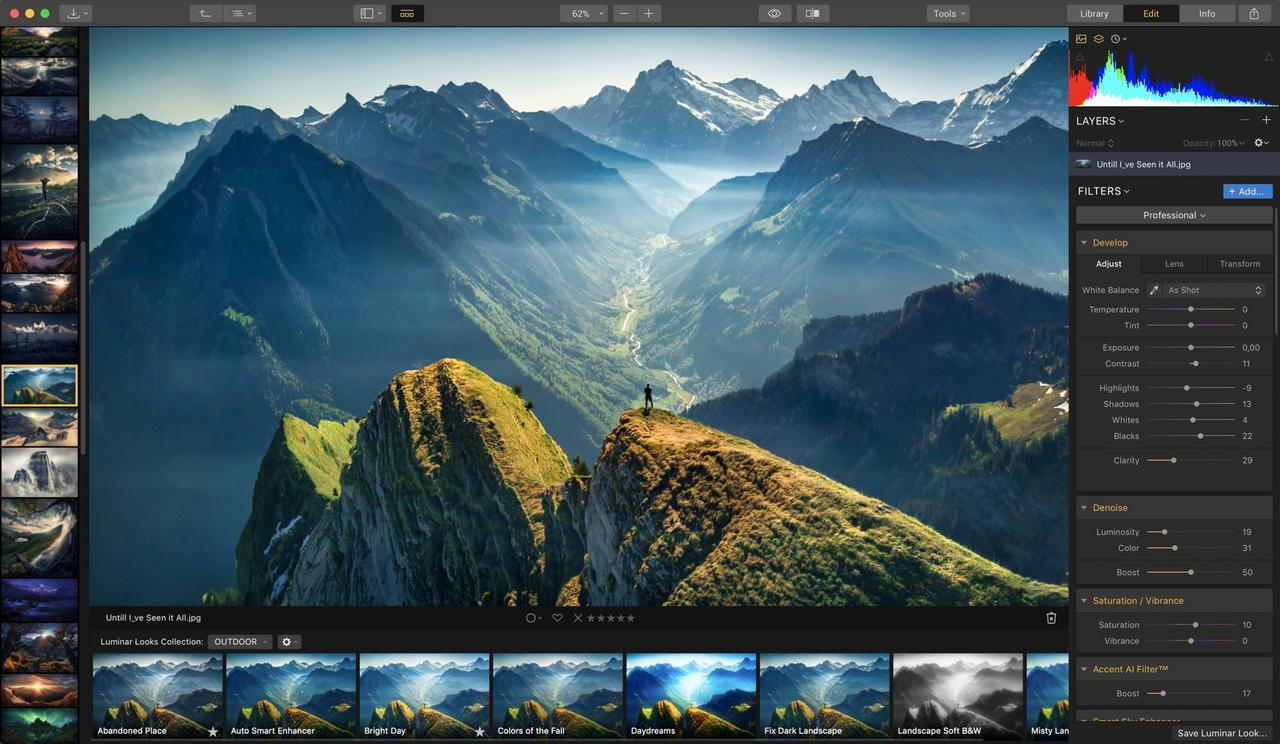 The Luminar software system.