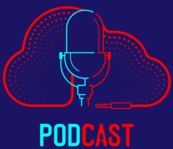 A podcast icon.