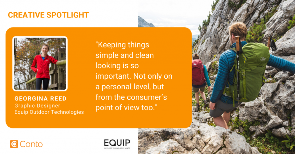 Georgina Reed, a graphic designer at Equip Outdoor Technologies.