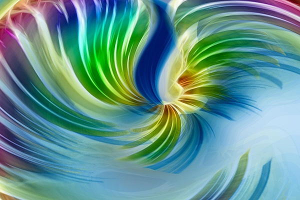 Ein Strudel aus verschiedenen Farben.