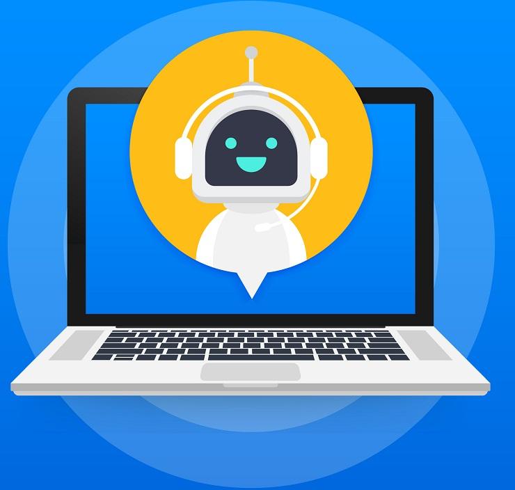 A chatbot on a laptop.