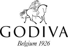 The logo of Godiva Chololatiers.