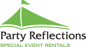 The logo of Party Reflections.