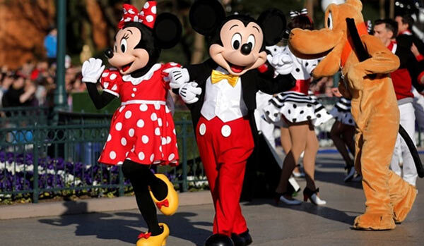 Mickey Mouse at a theme park.