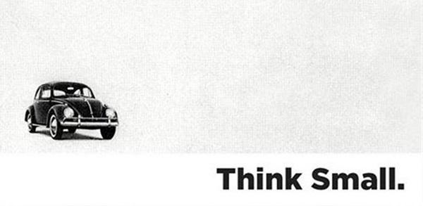 Eine Werbeanzeige von Volkswagen.