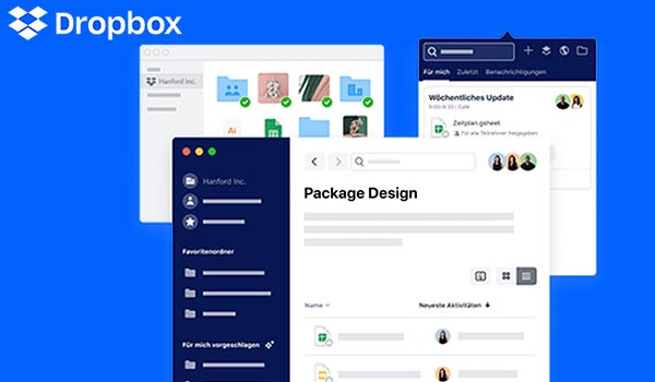 Ein Screenshot der Webseite von Dropbox, als Beispiel für Markenauthentizität.