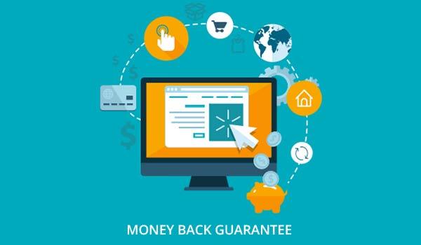 Abbildung einer Geld-zurück-Garantie, die zur Schaffung von Markenbekanntheit genutzt werden kann.