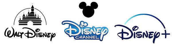 Verschiedene Logos des Disney-Konzerns.