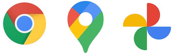Logos des Google-Konzerns.