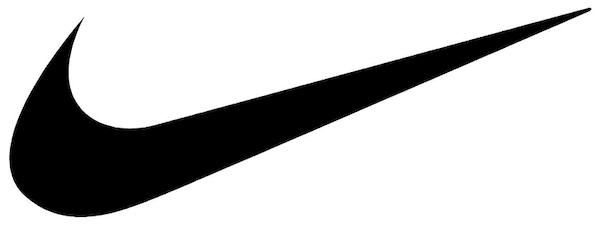 Der 'Swoosh', das Erkennungsmerkmal der Marke Nike.