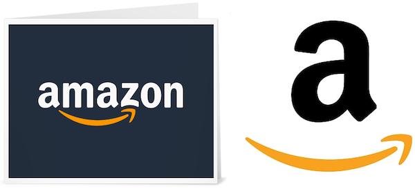 Zwei verschiedene Logos von Amazon.