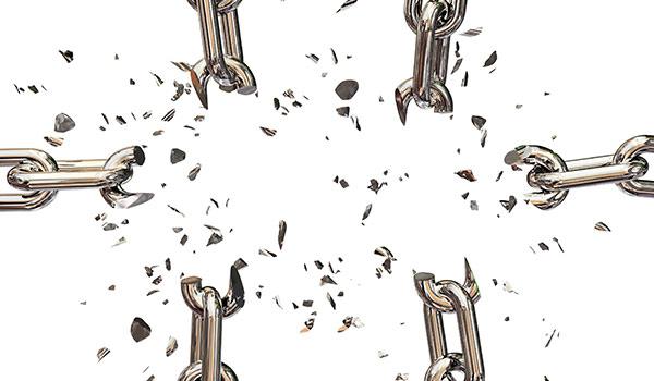 Zerbrechende Ketten, Sinnbild für die Macht von Rebranding.