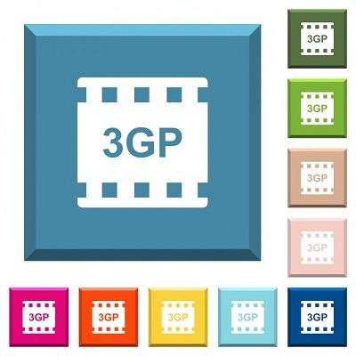 Ein Dateisymbol für das 3GP-Videoformat.
