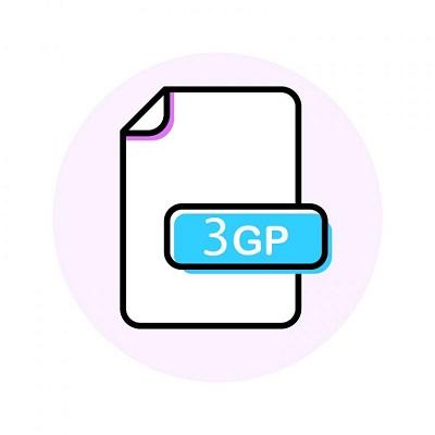 Das Logo für das 3GP-Videoformat.