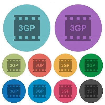 Verschiedene 3GP-Symbole.