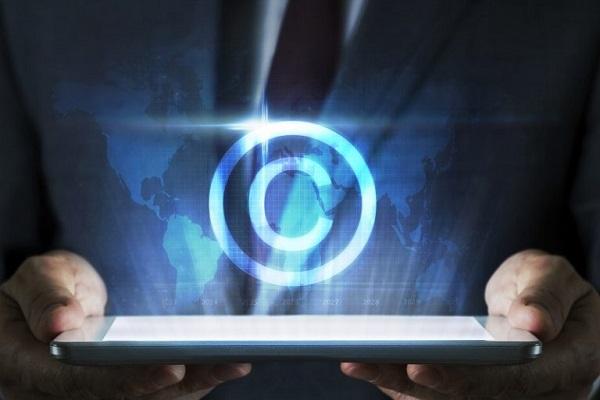 Ein digital bearbeitetes Copyright-Logo.