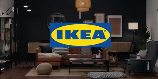 Das Modellwohnzimmer eines IKEA Einrichtungshauses.