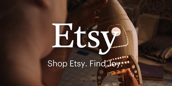 Eine Werbeanzeige von Etsy.