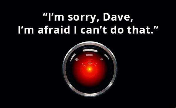 Der Computer HAL 9000 aus dem Film '2001: Odyssee im Weltraum'.