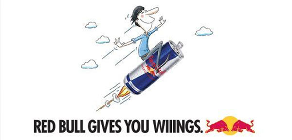 A Red Bull advertisement.