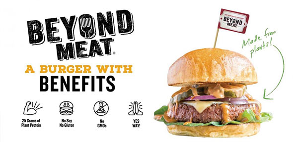 A Beyond Meat hamburger.