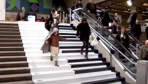 The Volkswagen piano stairs.