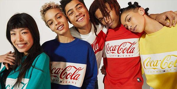 A Coca-Cola clothing photoshoot.