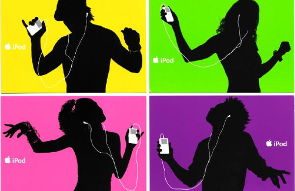 An Apple iPod advertisement.