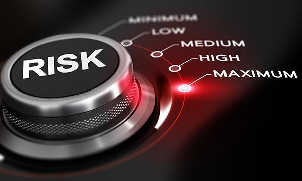 Ein Regler für das Risiko, der auf Maximum gedreht ist.