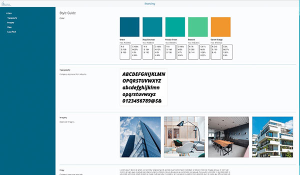 Eine Abbildung von Branding-Software.
