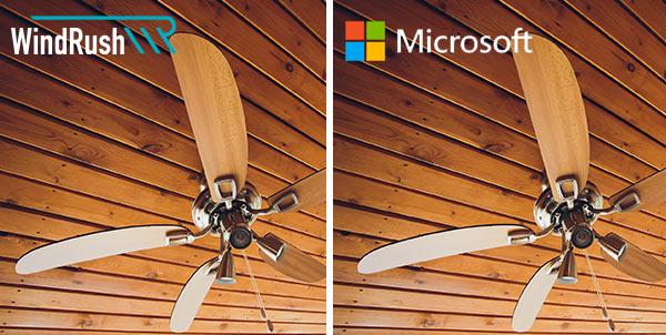 Ein fiktiver Deckenventilator von Microsoft.