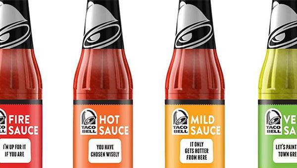 Die in Flaschen abgefüllte Taco-Soße von Taco Bell.