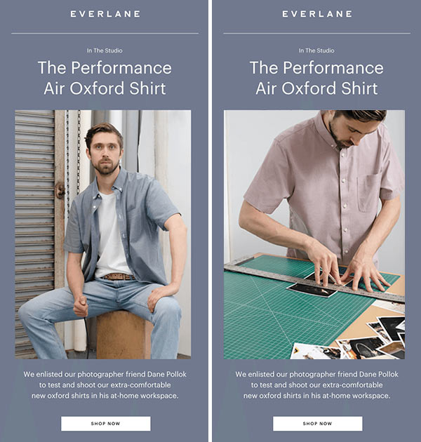 A/B testing images in email design