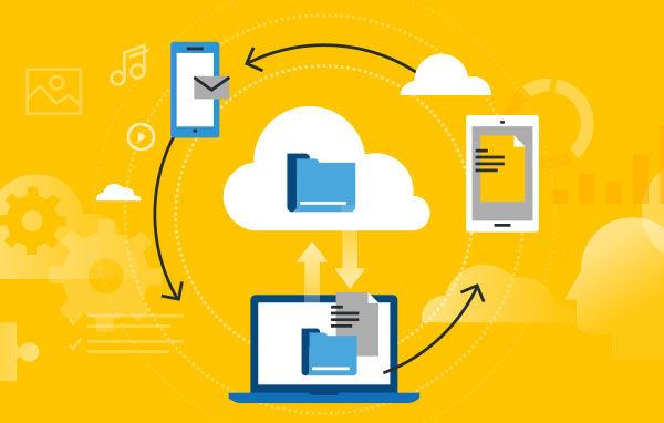 illustration of cloud-based server