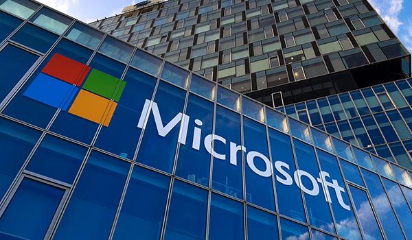 Das Gebäude der Firma Microsoft.