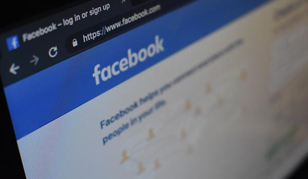 Die Homepage der Webseite von Facebook.